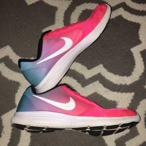 Pink Purple Blue Ombr Nike Revolution